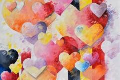Art, peinture, coeur, belgique, france, bedeur, huile, toile, figuratif, Vivre libres 50x50cm, huile sur toile