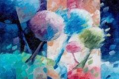 Art, arte, figuratif, canvas, peinture, toile, Landscape, architecture, abstrait, floral, paysage, art prints, nature, houses, village, dreamscape, coloré, lumière, 18x24cm, huile sur toile