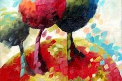 Art, arte, figuratif, canvas, peinture, toile, Landscape, architecture, abstrait, floral, paysage, art prints, nature, houses, village, dreamscape, colorf, spirale, 18x24cm, huile sur toile