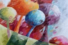 Art, figuratif, canvas, peinture, toile, Landscape, architecture, abstrait, floral, paysage, art prints, nature, houses, village, dreamscape, coloré, les bonbons, 18x24cm, huile sur toile
