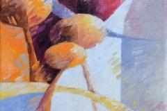 Art, figuratif, canvas, peinture, toile, Landscape, architecture, abstrait, floral, paysage, prints, nature, houses, village, dreamscape, coloré, lumière d'automne, 18x24cm, huile sur toile