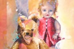 character, colorful, personage, personages, huile, gallery, artwork, drawing, impressionism, inspirational, fantasy, art prints, artist, dream, souvenirs d'enfance, 45x80cm, huile sur toile