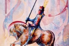 045 - Longin a cheval de Subirachs 85x115 (2004)