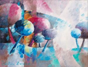a-l-aube-des-temps-nature-oil-bedeur-art-peinture-huile-trees-pointillism-onirique-dream