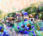 paysage-de-mon-enfance-peinture-huile-reproduction2