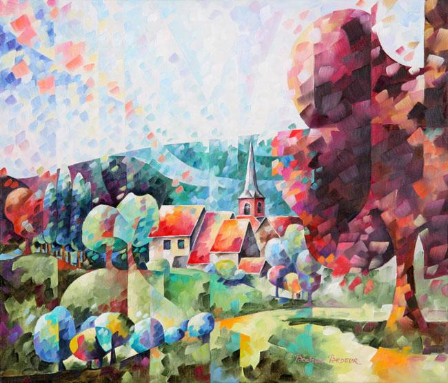 village-de-deigne-peinture-huile-paysage-landscape